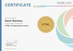 HTML Fundamentals course