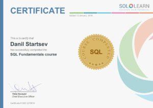 SQL Fundamentals course